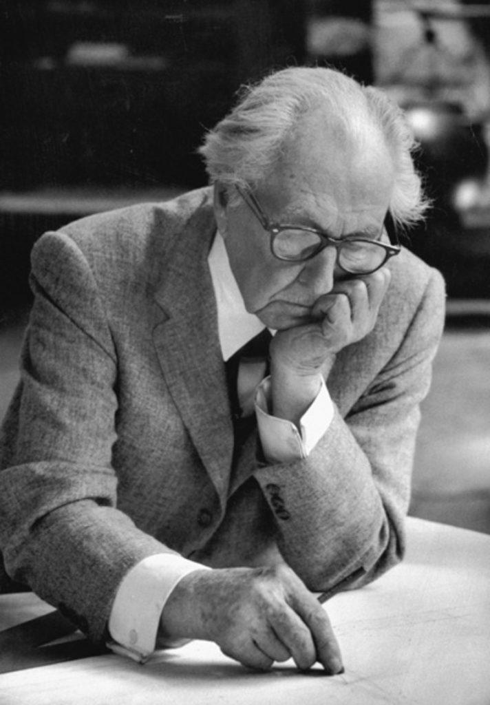 Frank Lloyd Wright, c. 1957.